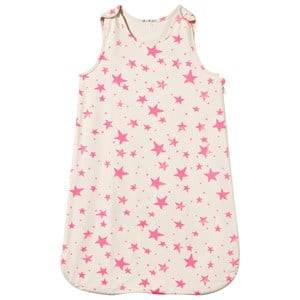 Noe & Zoe Berlin Girls Bedding White Sleeping Bag Neon Pink Stars