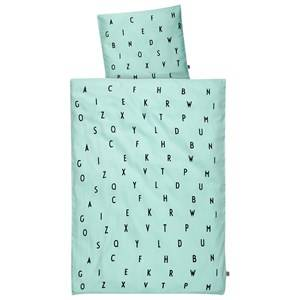 Design Letters Unisex Bedding Green Design Letters Baby Bedlinen Mint