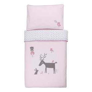 Vinter & Bloom Unisex Bedding Pink Forest Friends Bedset Cot Blossom
