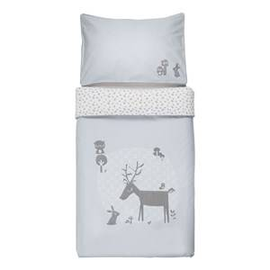 Vinter & Bloom Unisex Bedding Blue Forest Friends Bedset Cot Bluebell