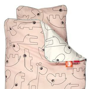 Done by Deer Unisex Baby Gear Bedding Pink Contour Junior Bedlinen Powder