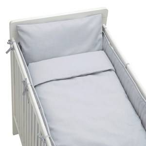 rattstart Unisex Bedding Grey Bed Set Crib Bed Grey