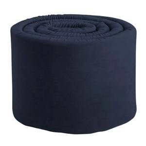 sebra Unisex Bedding Blue Baby Bumper Velour Royal Blue