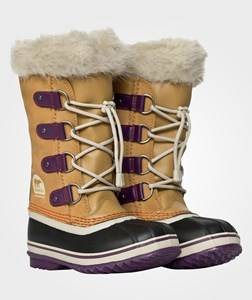 Sorel Unisex Childrens Shoes Boots Brown Youth Joan Of Arctic Curry