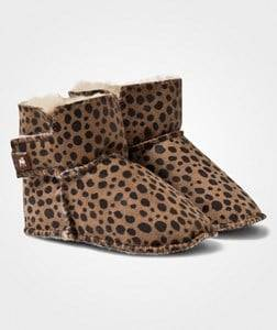 Shepherd Unisex Childrens Shoes Boots Brown Borås Slippers Leopard