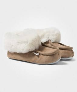 Shepherd Unisex Childrens Shoes Slippers Brown Osby Slippers Camel