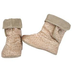 DOLLY by Le Petit Tom Girls Childrens Shoes Boots Beige Baby Boots Snake Beige 3-Ways