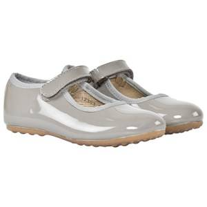 Bisgaard Girls Childrens Shoes Shoes Grey Mary Jane Flats Mouse