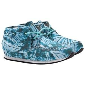 AKID Unisex Childrens Shoes Sneakers Blue Stone Blue Tiger Camo Canvas