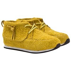 AKID Unisex Childrens Shoes Sneakers Multi Stone Neon Yellow Suede
