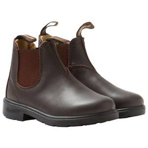 Blundstone Unisex Childrens Shoes Boots Brown Blunnies Brown Full Grain Leather Boots