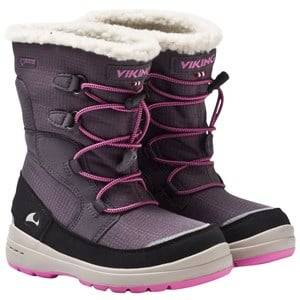 Viking Unisex Childrens Shoes Boots Grey Totak Dark Grey/Dark Pink
