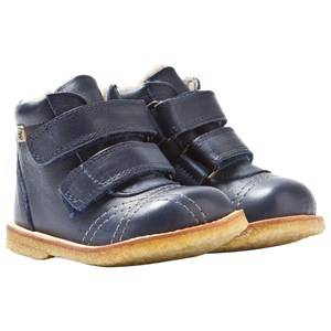 Bisgaard Unisex Childrens Shoes Boots Blue TEX Boots Wool Velcro Blue Toddler