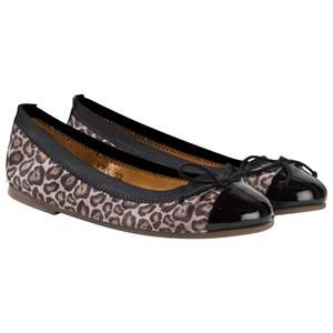 Petit by Sofie Schnoor Girls Childrens Shoes Shoes Multi Leather Ballerina Mud Leopard