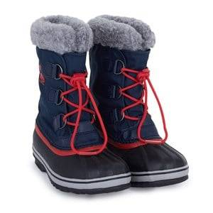 Sorel Unisex Childrens Shoes Boots Blue Yoot Pack Nylon Navy/Red