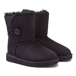 UGG Unisex Childrens Shoes Boots Black Bailey Button Black