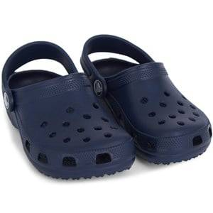 Crocs Unisex Childrens Shoes Sandals Blue Classic Slippers Kids Navy