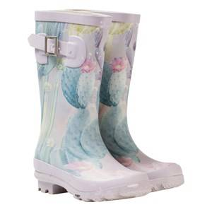 Molo Girls Boots Multi Sigvardt Wellies Delicate Cacti