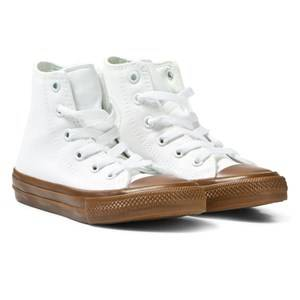 Converse Unisex Sneakers White White Chuck Taylor All Star II Junior Hi Tops