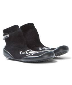 NUNUNU Unisex Shoes Black Skull Collegien Slippers Black