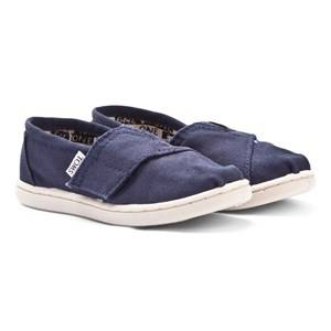 Toms Unisex Shoes Navy Navy Canvas Tiny TOMS Classics