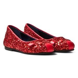 Little Marc Jacobs Girls Shoes Red Red Glitter Mouse Pumps