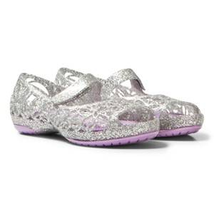 Crocs Girls Sandals Silver Silver Infants Isabella Glitter Shoes