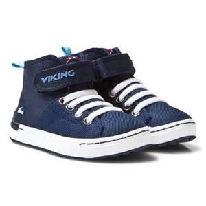 Viking Unisex Sneakers Navy Frogner Kids MID Navy/White