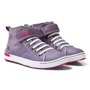 Viking Girls Sneakers Purple Frogner Kids MID Grey/Magenta