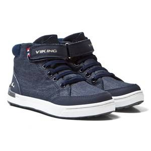 Viking Unisex Sneakers Navy Mark MID Navy/White