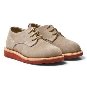 Young Soles Boys Shoes Grey Alfie Derby Shoes Stone Suede