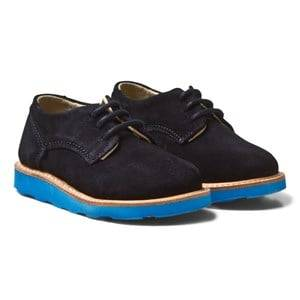 Young Soles Boys Shoes Navy Alfie Derby Shoes Navy Suede