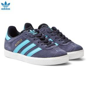 adidas Originals Boys Sneakers Navy Midnight Grey Kids Gazelle Trainers