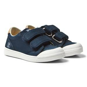 10-IS Boys Sneakers Navy Navy Chevron TEN V 2 Velcro Shoes