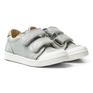 10-IS Boys Sneakers Grey Grey Shine TEN V 2 Velcro Shoes