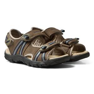 Geox Boys Sneakers Brown Brown Velcro Strada Sandals