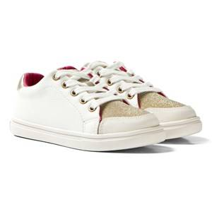 Mayoral Girls Sneakers White White and Gold Glitter Trainers