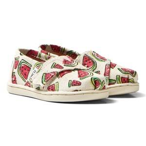 Toms Girls Shoes Pink Pink Glitter Watermelon Tiny TOMS Classics