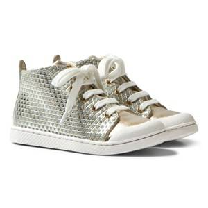 10-IS Girls Sneakers Gold Gold TEN C Mid Lace Shoes