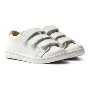 10-IS Unisex Sneakers White White Nappa TEN C LO 3 Velcro Shoes