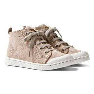 10-IS Girls Sneakers Pink Galu Pink TEN C Mid Lace Shoes