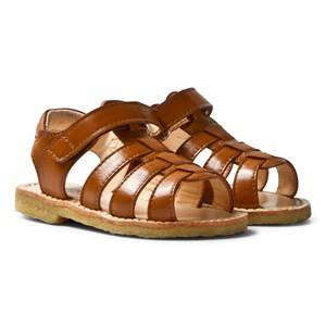 Angulus Unisex Sandals Brown Tan Open Toe Sandals