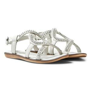 Lelli Kelly Girls Sandals White White Doroty Leather Diamante Sandals