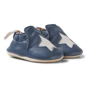 Easy Peasy Unisex Shoes Navy Navy Star Leather BluBlu Anti Slip Shoes