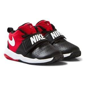 NIKE Boys Sneakers Black Black and Red Team Hustle Infants Trainers