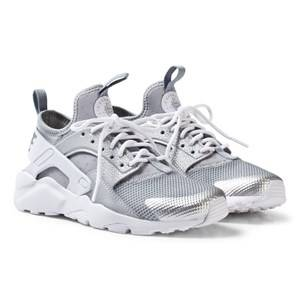NIKE Boys Sneakers Silver Huarache Run Ultra Sneakers Metallic Silver