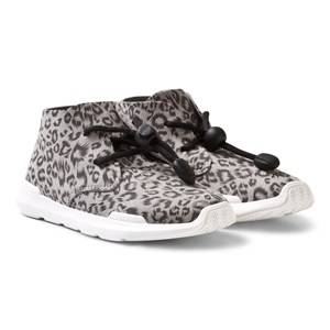 AKID Girls Sneakers Leopard Remington Hi Top Trainers