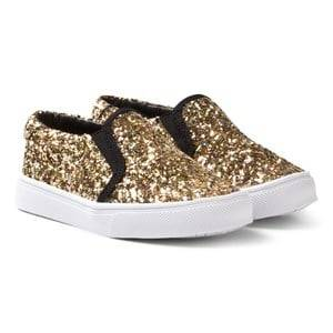 AKID Girls Sneakers Gold Gold Dazzel Liv Slip Ons