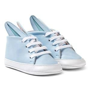Minna Parikka Girls Sneakers Blue Pale Blue and White Baby Bunny Trainers