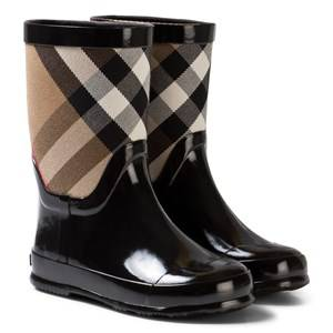 Burberry Girls Boots Black Black Nova Check Wellies